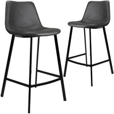 65cm Sandra Faux Leather Barstools (Set of 2)