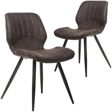 Shaira Suede Dining Chairs (Set of 2)