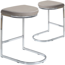 60cm Marco Faux Leather Barstools (Set of 2)