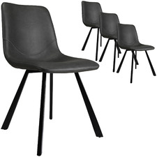 Sandra Faux Leather Dining Chairs (Set of 4)