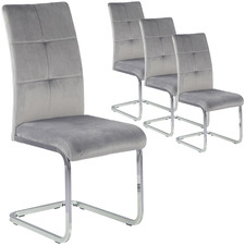 Grey Marcus Velvet Dining Chairs (Set of 4)