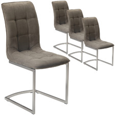 Hiram Suede Dining Chairs (Set of 4)