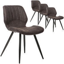 Shaira Suede Dining Chairs (Set of 4)