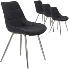 Nora Faux Leather Dining Chairs (Set of 4)