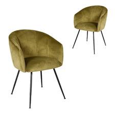 Rose Velvet Dining Chairs (Set of 2)