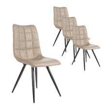 Mars Faux Leather Dining Chairs (Set of 4)