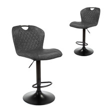 Baggio Upholstered Adjustable Barstools (Set of 2)