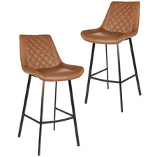 106cm Magni Faux Leather Barstools (Set of 2)