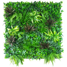 100cm Square Faux Coastal Greenery Vertical Garden Wall Panel