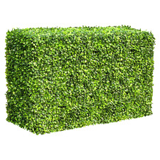 50cm x 100cm Faux Mixed Boxwood Hedge Wall Panel