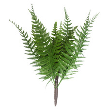 38cm Faux Dark Fern Stems (Set of 3)