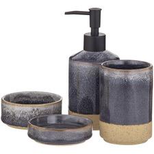 4 Piece Grey Becket Ceramic Bathroom Essential Set