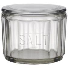 Hemingway Glass Salt Jar