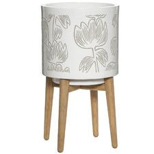 Alma Ceramic Planter Pot with Stand