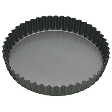 Black Loose Base Round Quiche Tin