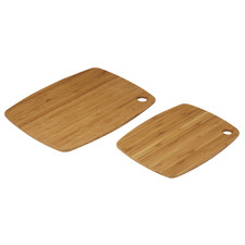 2 Piece Natural Tri-Ply Bamboo Chopping Board Sets