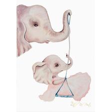 Elephant Swing Unframed Paper Print
