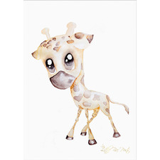 George The Giraffe Unframed Paper Print