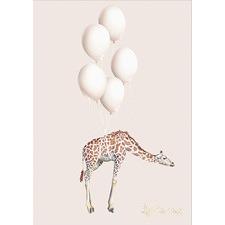 Giraffe Balloons Unframed Paper Print