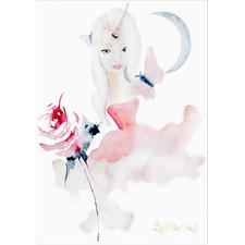 Unicorn Rose Unframed Paper Print
