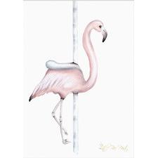 Carousel Flamingo Unframed Paper Print