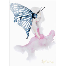 Madame Butterfly Unframed Paper Print