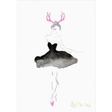 Antler Ballerina Unframed Paper Print