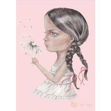 Dandelion Kiss Unframed Paper Print
