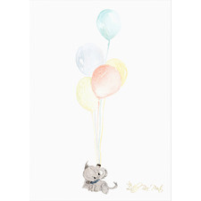Baby Elephant Unframed Paper Print