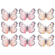 9 Piece Decorative Butterfly Wall Decal Set