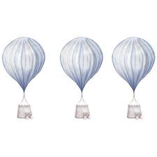 Blue Stripe Hot Air Balloon Borderless Wall Decals (Set of 3)