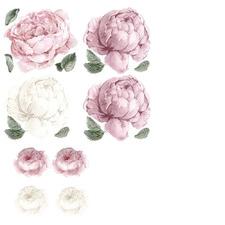 11 Piece Blush Peony & Rose Wall Decal Set