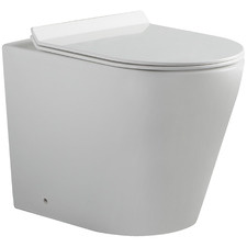 Flay-R Ceramic Back-To-Wall Pan