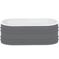 Grey Bucciano Marble Freestanding Bath