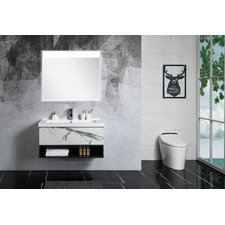 Calacatta Zero Wall Mounted Bathroom Vanity Unit