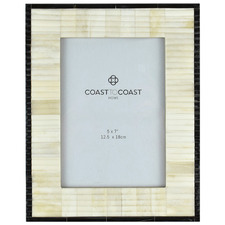 "Ivory & Black Cecil 5 x 7"" Photo Frames (Set of 2)"