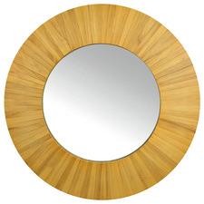 Natural Muccia Paulownia Wood Wall Mirror