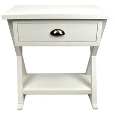 White Milton Bedside Table