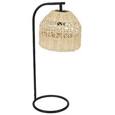 Charles Metal & Rattan Table Lamp