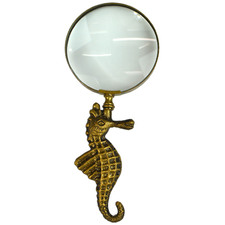 Seth Seahorse Metal Magnifying Glass