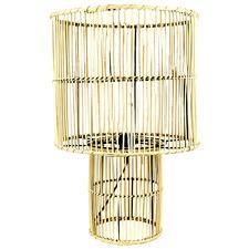 Yelena Metal & Rattan Table Lamp