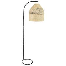 Amancio Metal & Rattan Floor Lamp