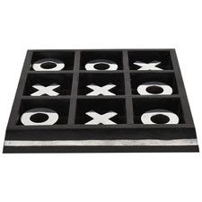 Black & Silver Noughts & Crosses Ornament