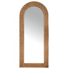 Aloha Arc Rattan Floor Mirror