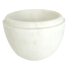 White Marble Pinch Pot