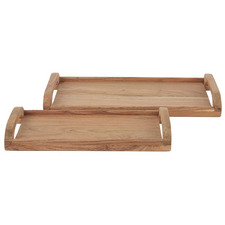 2 Piece Ruben Acacia Wood Serving Board Set