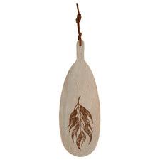 Leah Etched Leaf Mango Wood Serving Board