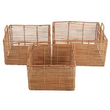 3 Piece Jari Rattan Basket Set