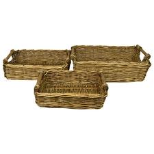 3 Piece Lika Willow Tray Set