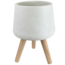 White Cloud Pot on Stand